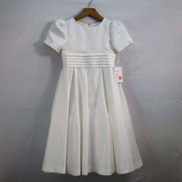 Us Angels Other - US ANGELS SHORT SLEEVE IVORY SATIN DRESS